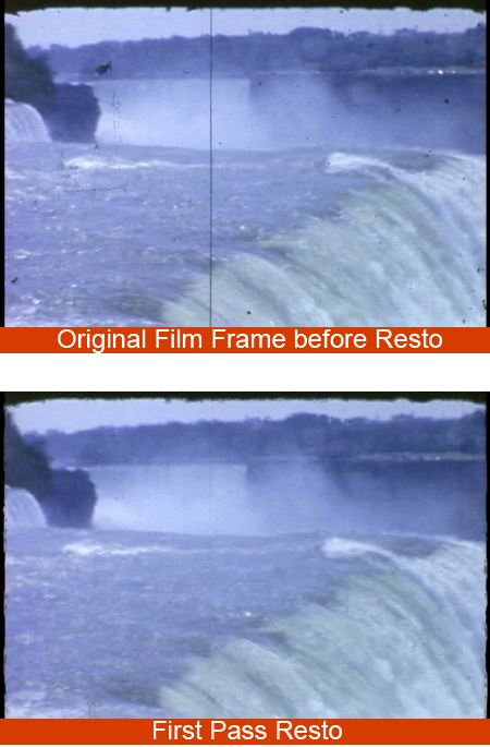 before and after film restore