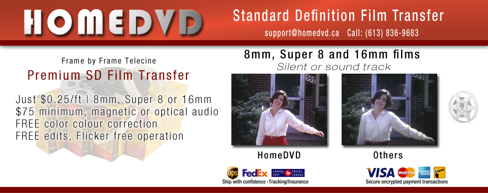 Premium SD Film Transfers