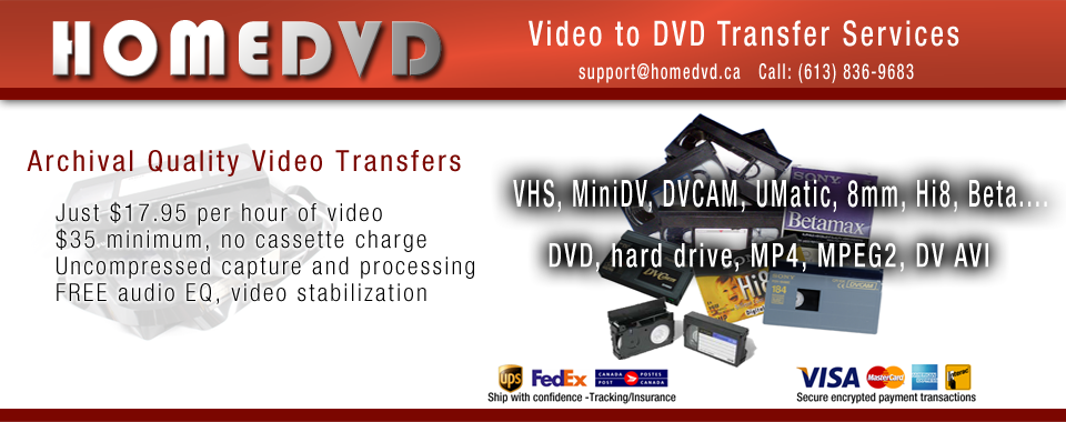 High Quality Video Transfers